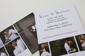 Save the Dates with engagement images