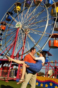 engagement session ferris wheel